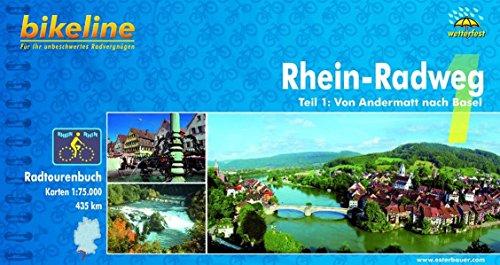 Bikeline Radtourenbuch, Rhein-Radweg Teil 1: Von Andermatt nach Basel, wetterfest/reißfest
