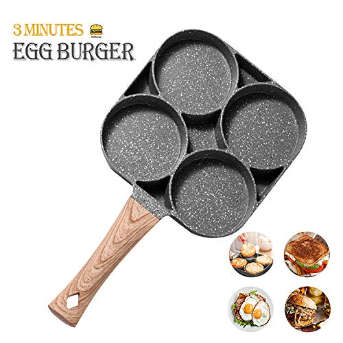 Egg cooker Frying Pan, 4-Cups non-stick cookware Aluminium Alloy Fried Egg Cooker,Pancake,omelette pan,egg poacher