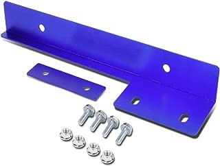 ICBEAMER Blue Universal Front Aluminum Bumper License Plate Mount Re-Locator Frame Bracket Holder Bar [Drilling Require]