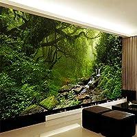 写真の壁紙3Dステレオバージンフォレスト自然風景壁壁画リビングルームソファテレビ寝室背景壁3D, 300cm×210cm