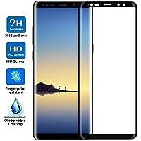 ELECTRÓNICA REY Protector de Pantalla Curvo para Samsung Galaxy Note 8 / NOTE8, Negro, Cristal Vidrio Templado Premium, 3D / 4D / 5D