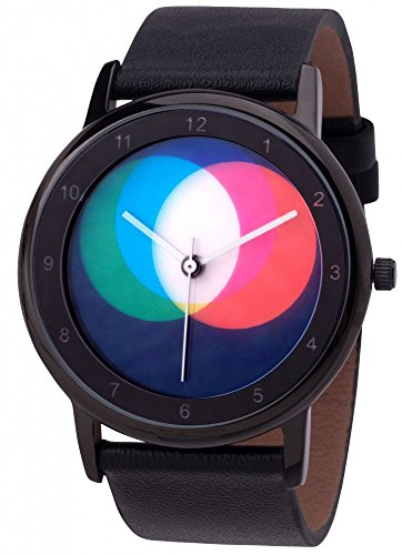 Rainbow e-motion of color Orologio Analogueico Quarzo Unisex con Cinturino in Pelle AV45BsB-BL-RGB