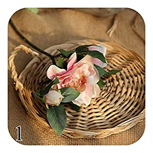 Onln 47cm Gardenia Flower Simulation Road Cited Silk Artificial Wall Fake Home Decor DIY Wedding Holding-1-
