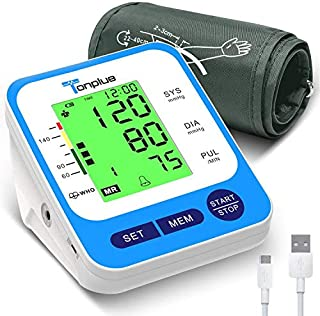 """Blood Pressure Monitor Upper Arm Digital Automatic BP Machine with Wide-Range Cuff(8.7""""-15.7"""")-Large Display-198 Sets Memory-Fast Reading for Home Use"""