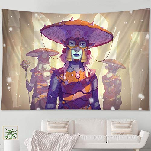 Tapiz tapiz de setas decoración de la pared Mandala decoración bohemia decoración del hogar colchón 150x200cm
