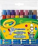 Crayola - 16 mini feutres pointe fantaisie - boîte - Loisir créatif - Coloriage - papeterie - dessin - à partir de 3 ans - Jeu de dessin et coloriage