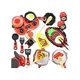 KCSds 26pcs la cocina del conjunto de los niños Juguetes for niños Cocina Mini Cocina Playset cocineros realistas Juego de imaginación Alimento del partido del papel de juguetes educativos for Niños N