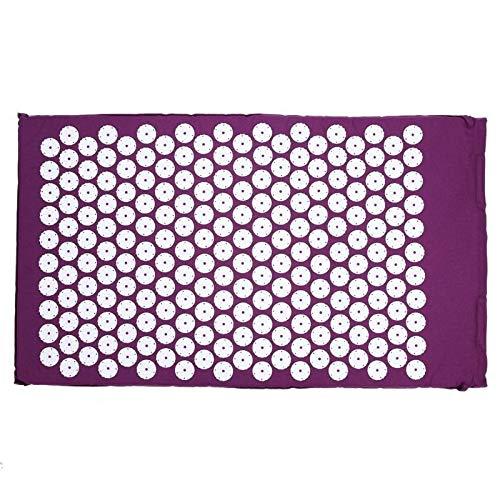 JWGD Antiglisse Coton Tapis de Yoga Tapis Plum Dot Résine Serviette Couverture for Sprot Exercice (Couleur : Type C Purple)