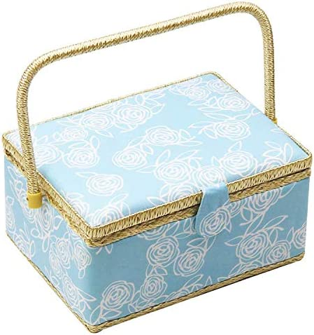 Large Sewing Basket with Accessories Sewing Organizer Box with Supplies DIY Sewing Kits for product image