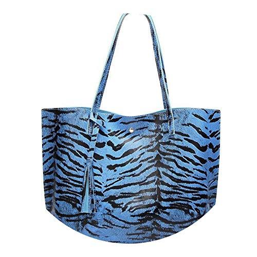 on Woman - Bolso de piel de leopardo de gran capacidad, estilo vintage,...