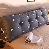 Coussins Triangle tête de lit Oreillers doux Paquet Canapé Grand Coussin Tatami Lit amovible et lavable Dossier (Color : B, Size : 90cm(35.4 Inches))