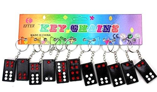 Domino–Juego de 6–Llavero 4cm modelos surtidos–Calidad coolminiprix®