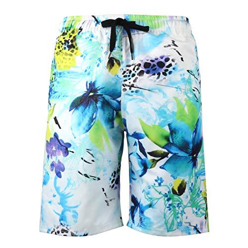 Pantalones Cortos Deportivos de Talla Grande con Estampado de Moda para Hombre, Pantalones Cortos de Verano de Secado rápido básicos para Ocio M