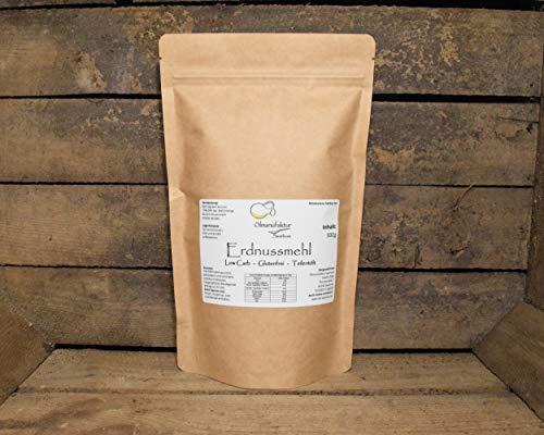 Bio Erdnussmehl entölt   low carb und glutenfrei   veganes Erdnussprotein (500g)