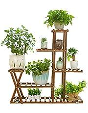 Nisorpa - Estantería de madera para macetas (5 niveles, 95 x 95 x 25 cm)