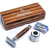Firsteco® premium Maquinilla de Afeitar Clásica set kit innovador mecanismo de...