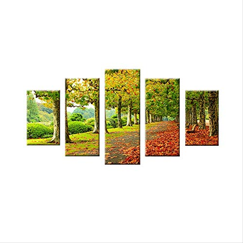 NOBRAND Poster HD Impresiones Sala De Estar Modern Wall Art Canvas 5 Cherry Blossom Pictures Decorate Beautiful Trees Forest Painting 20X35 20X45 20X55Cm Sin Marco
