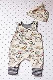 Baby Geschenk Zum Geburt Set by The Blackboard Bunny. Dinosaurier Baby Kleidung Set. Dino Strampler.