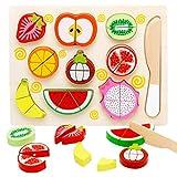frutta giocattolo per bambini, Taglio Frutta Verdura,Giochi Bambini da Puzzle in Legno, Giocattoli da Animali Puzzle 3D,Montessori Educativo Giocattoli di Taglio,puzzle legno bambini (Banana)