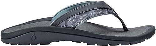 OLUKAI 'Ohana Koa Vegan-Friendly Waterproof Sandals (Men's) 9 Charcoal Dive CAMO