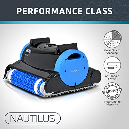 Fantastic Deal! Dolphin Nautilus Automatic Robotic Pool Cleaner with Dual Filter Cartridges, Two Scr...