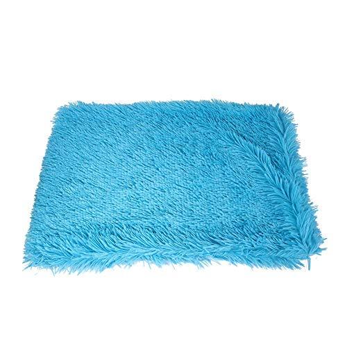 XHNXHN Manta de Piel sintética para Perro, colchón cálido para Gato, S/M/L, Alfombrilla Lavable, cojín para Cachorros, Funda para sofá, Protector de Muebles para Perro, Gato, Azul, M
