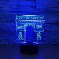 3DランプガールズナイトライトイリュージョンLEDテーブルデスクランプ16色変更ランプ&タッチコントロール、バレンタインデーの誕生日プレゼント