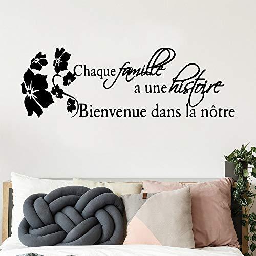 Yaonuli Mooie Franse citaten pastel verhaal familie sticker baby kinderkamer decoratie achtergrond behang woonkamer muurkunst sticker