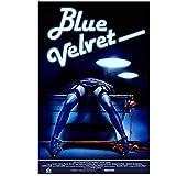 ASLKUYT Blue Velvet Movie Poster 1986 Poster Dekoratives