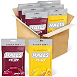 Hall's (HAM9L) HALLS Relief Variety Pack Honey Lemon and Black Cherry Sugar Free Cough Drops, 6 Packs of 25 Drops (150 Total Drops)