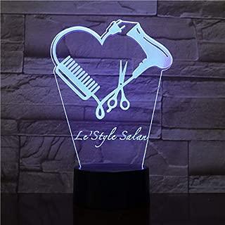 Tijeras de estilista 3D Luces de noche LED Barber Shop Custom Nombre Peluquería Tijeras Iluminación decorativa Barber Niños Navidad Regalos de cumpleaños
