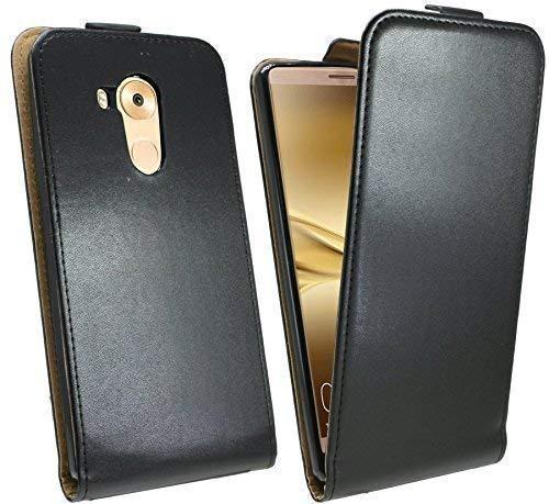 Preisvergleich Produktbild ENERGMiX Klapptasche kompatibel mit Huawei Ascend Mate 8 Schutztasche in Schwarz Tasche Hülle