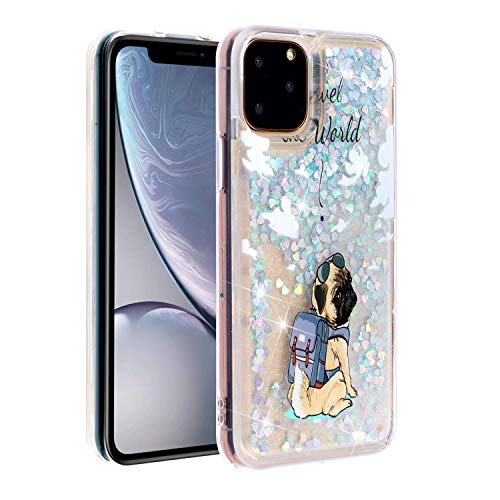 KSHOP Glitter Hoesje voor iPhone SE/5/5S, Happy dog, iPhone 11 2019