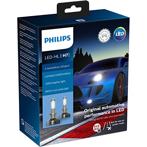 Philips automotive lighting 11972XUWX2 X-tremeUltinon gen2 LED Faros Delanteros (H7), 5.800K, Set de 2