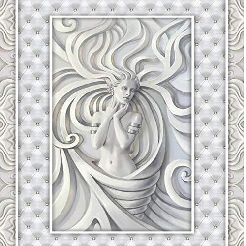 Aangepaste vloerverlichting Sculptuur 3D Vloertegels Super Groen PVC Dikke Waterdichte Grondverf 200cm(L) x140cm(W)
