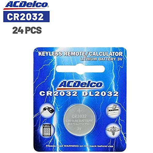 ACDelco CR2032 3V Lithium Coin Cell Battery, 24 Count