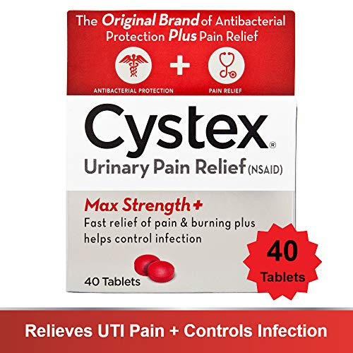Cystex Urinary Pain Relief Tablets   Fast UTI Treatment   Controls Frequent Urination   Keeps Urinary Tract Infection from Worsening   40 Tablets