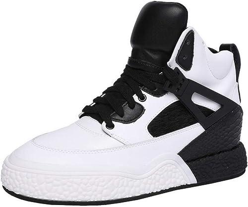 YAN Chaussures de Sport de Haut-Haut de Printemps de Baskets de Femmes Lycra Chaussures de Course antidérapantes Chaussures d'athlétisme Chaussures d'entraînement,A,38
