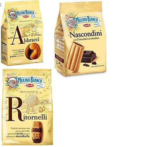 Mulino Bianco Kekse testpaket Abbracci Nascondini, Ritornelli 2 x 700g 1 x 600g
