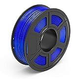 TECBEARS Filamento PETG per Stampante 3D Blu 1.75mm, Precisione Dimensionale +/- 0.02mm, Bobina da 1KG Ogni, 1 Pacco