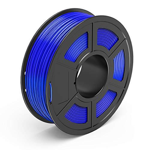TECBEARS PLA Filamento de Impresión 3D, 1.75mm Azul, Precisión Dimensional +/- 0.02 mm, 1kg Carrete, 1 Paquete