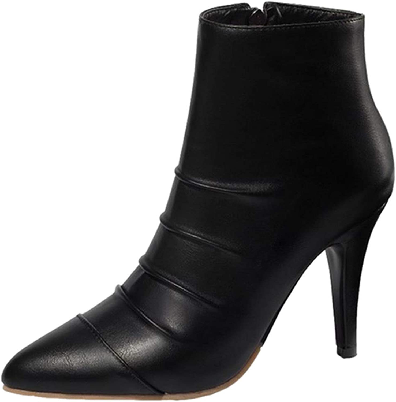 CUTEHEELS Women Ankle Stiletto Boots