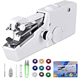 Handheld Sewing Machine, Cordless Portable Electric Mini Sewing Machiner Fast and Easy Sewing Fabric Clothing Kids Cloth Pet Clothes Suitable Family Travel Use