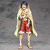 WISHVYQ UNA Pieza Anime Modelo Cake Island Battle Dañado Luffy Monkey D. Luffy Capa Luffy Versión Escultura Adorno Estatua Muñeca Modelo Juguete Altura 20cm