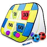 ストラックアウト サッカー ゴール ボール ハンドボール 折りたためる おもちゃ アウトドア 多人数で楽しめる レント 親子ゲーム 子供 ギフト 柔らかいボール付き