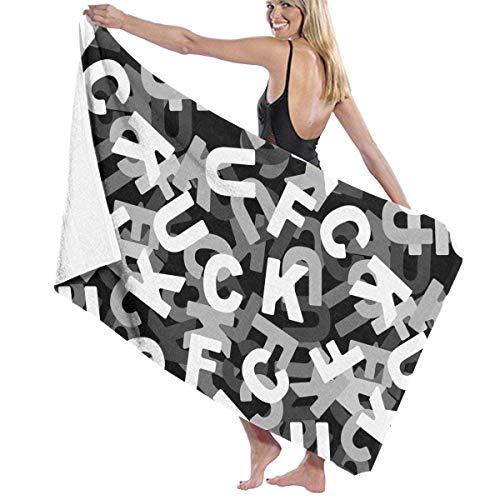 Mikrofaser Pool Strandtuch Ficken 3D-Textur des Briefes schnell trocknen Badetuch