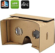 DIY 3D Google Cardboard VR Glasses - Mobile Phone Virtual Reality 3D Glasses, NFC, For iPhone + Android Phones