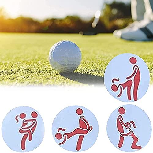 Marcador De Bolas De Golf Juego De Humor Para Adultos, Marcador Creativo De Bolas De Golf, Marcador Especial Ajuste Personalizado Reglas Temporales Golf, Marcadores Bolas Golf Patrones Variados (8pcs)