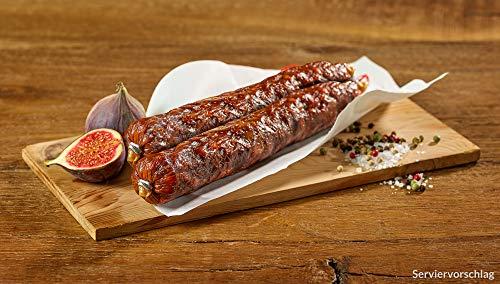 Pata Negra Chorizo Iberico Salami 500g Spanische Wurst vom schwarzen Schwein Pfeffersalami traditionell luftgetrocknet