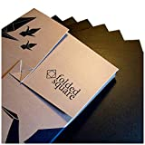 "Black Origami Paper | 100 Sheets, 6"" Square | Pantone Process Black"